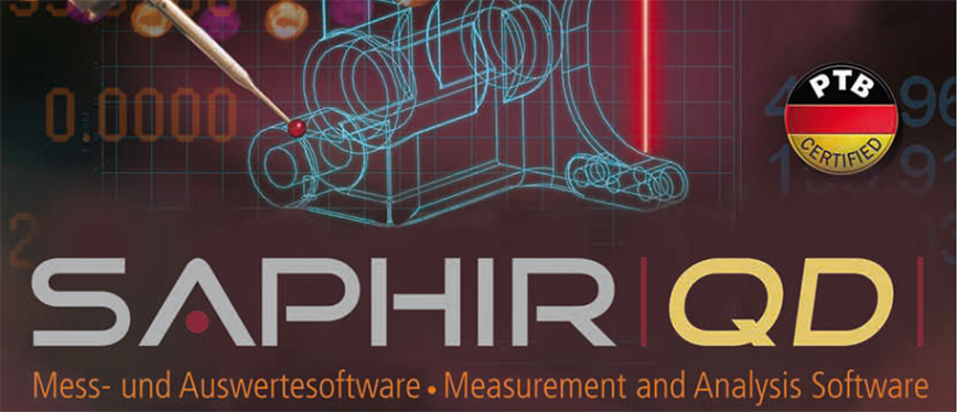 Logo Auswerte- und Analysesoftware - SAPHIR QD Messsoftware