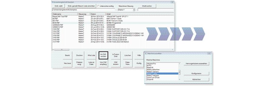 Logo Datenübertragung und Verwaltung - Datenübertragung für Mazak - Datenve
