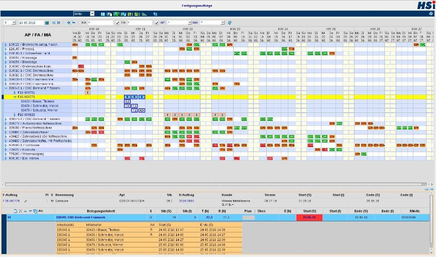 Logo Software for capacity and production date scheduling -  Order Manageme