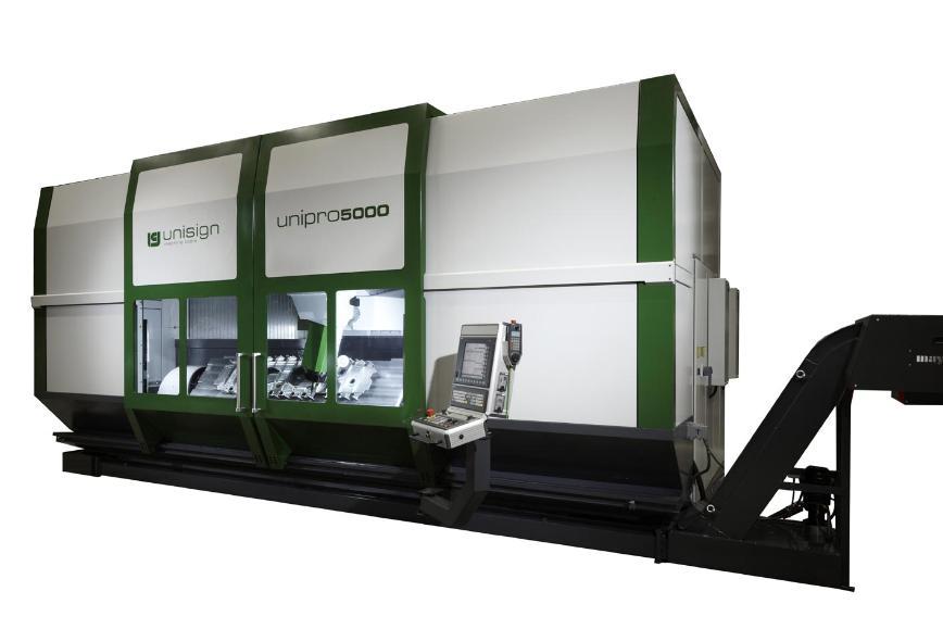Logo Hochgeschwindigkeits-Fräsmaschine (HSC) - Unipro 5000