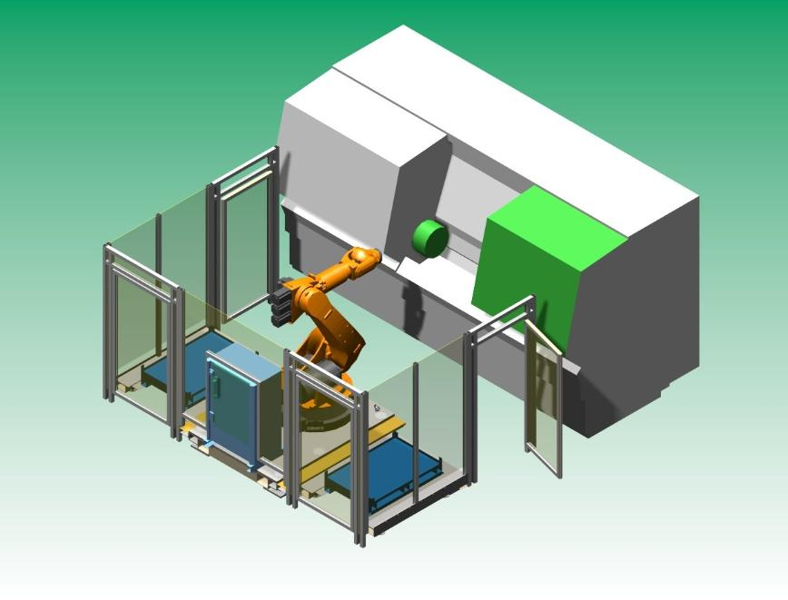 "Logo Werkstückhandhabung - Modulare ""Beladungszelle"" für Bearbeitungsmaschi"