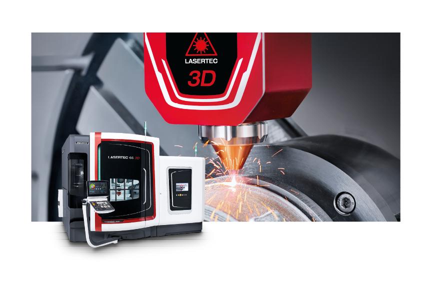 Logo System for metal powder deposition (MPA) - LASERTEC 65 3D hybrid and L