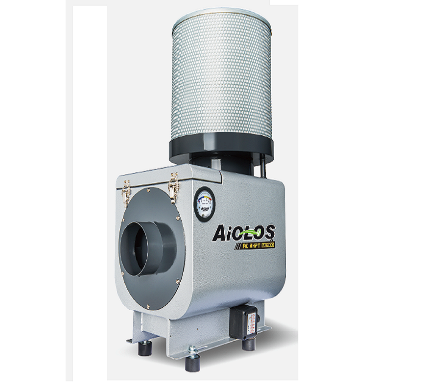 Logo Industrial suction plant for cleaning up of machines - AiOLOS Oil Mist
