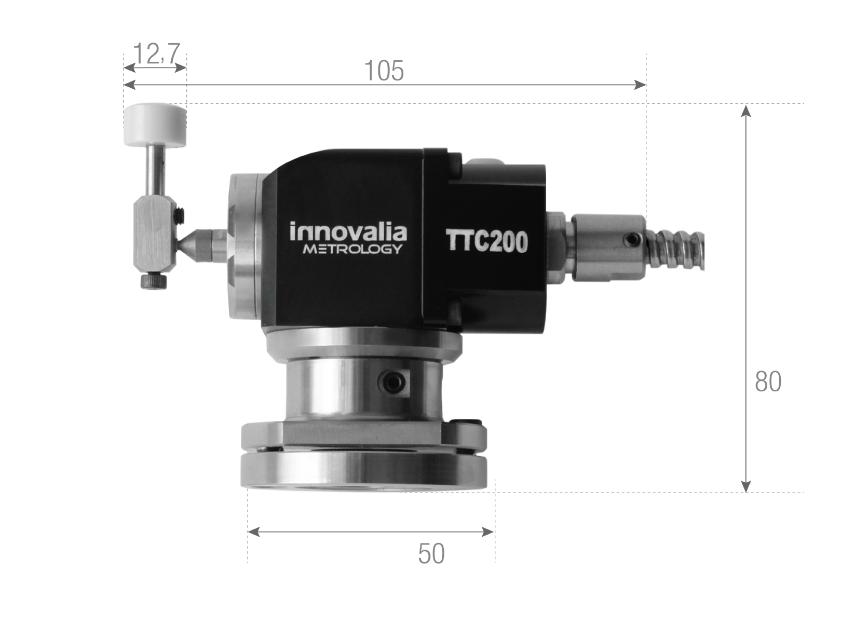 Logo Probing accessories 3D, probe pin, probe head, reference sphere, threa