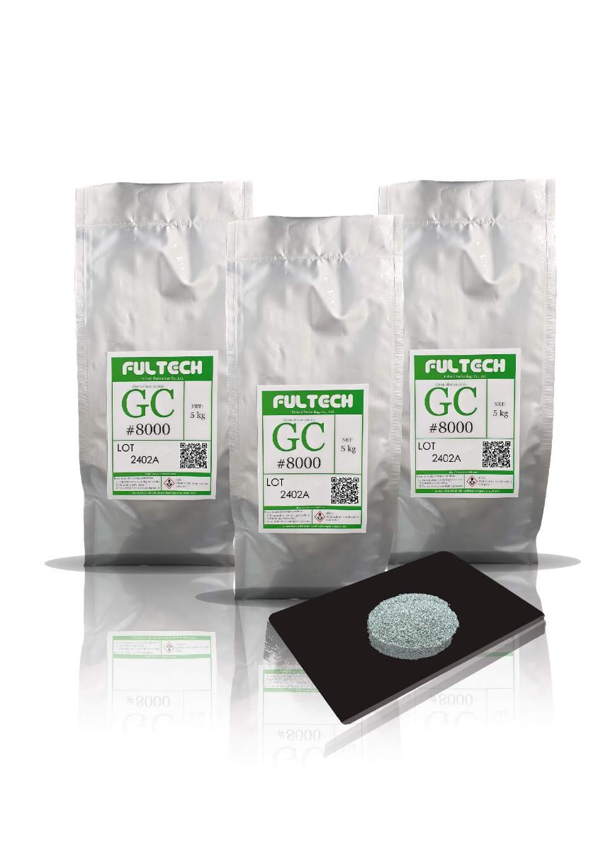 Logo Superfinishing process material - Green Silicon Carbide (GC)