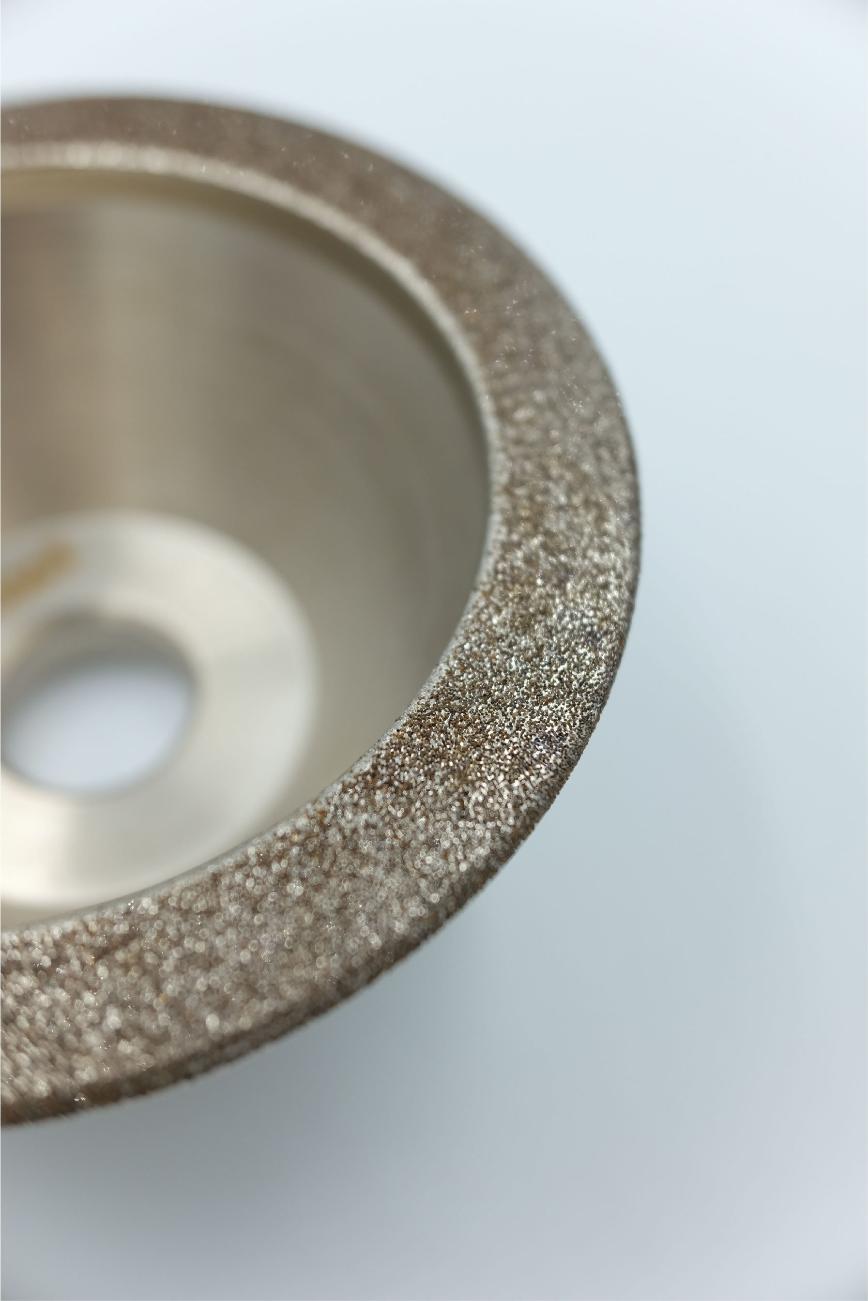 Logo Diamantscheibe, Diamantpaste - Electroplated diamond cup grinding whee