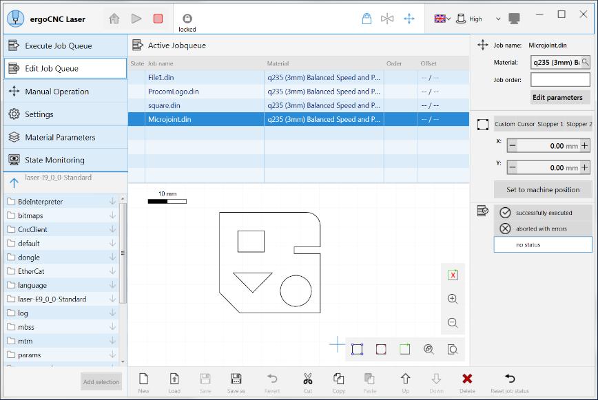 Logo Cloud application for production - ergoCNC