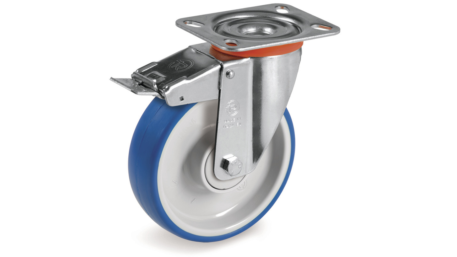 Logo Soft injected polyurethane wheels and castors