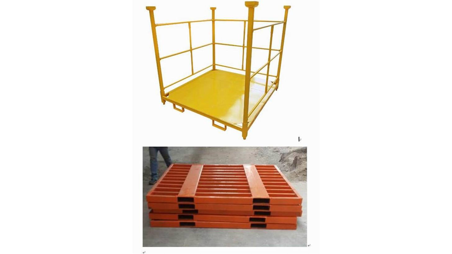 Logo 5.Metal Pallet and stacking rack