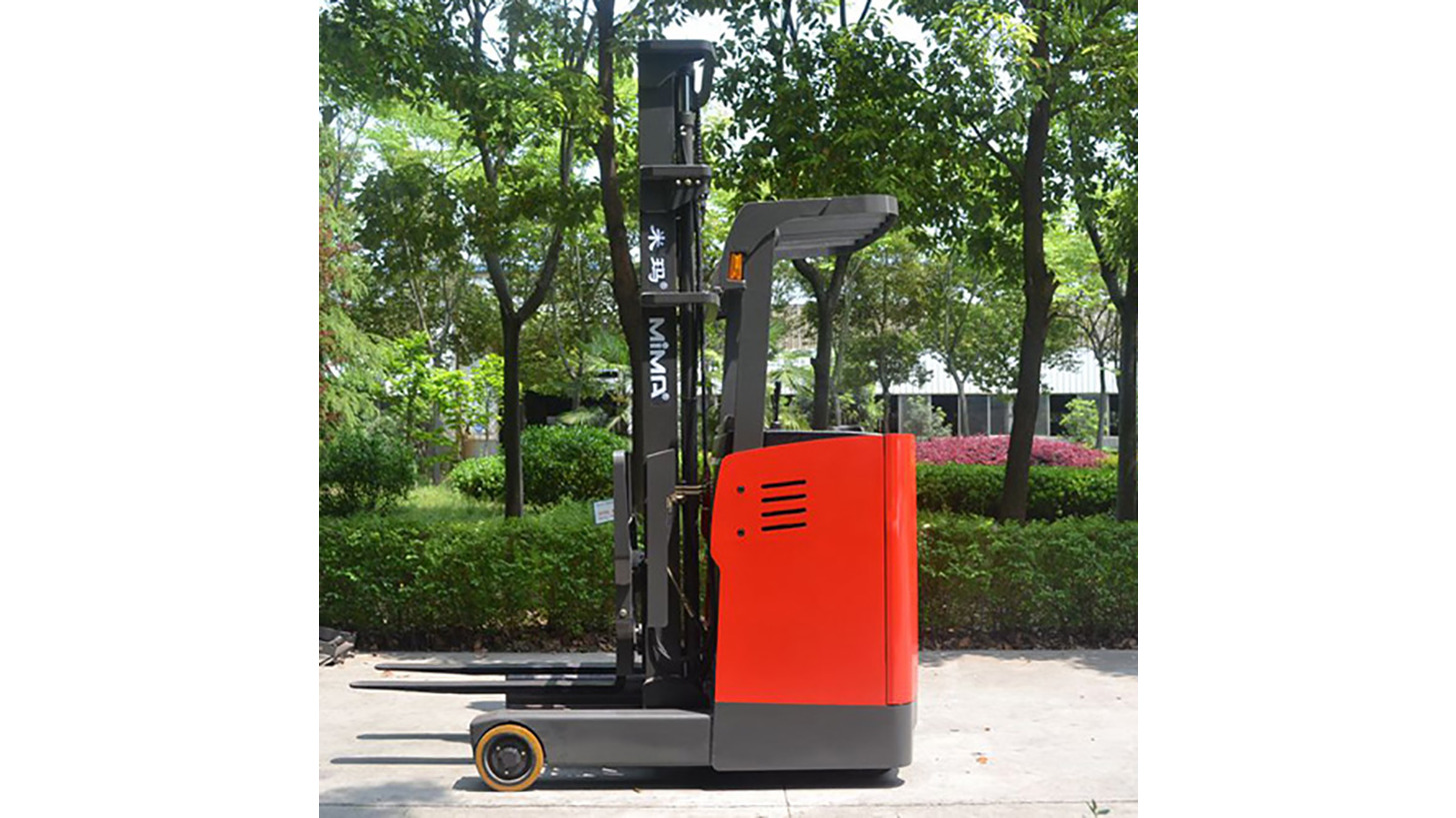Logo electric reach truck (stand on type)