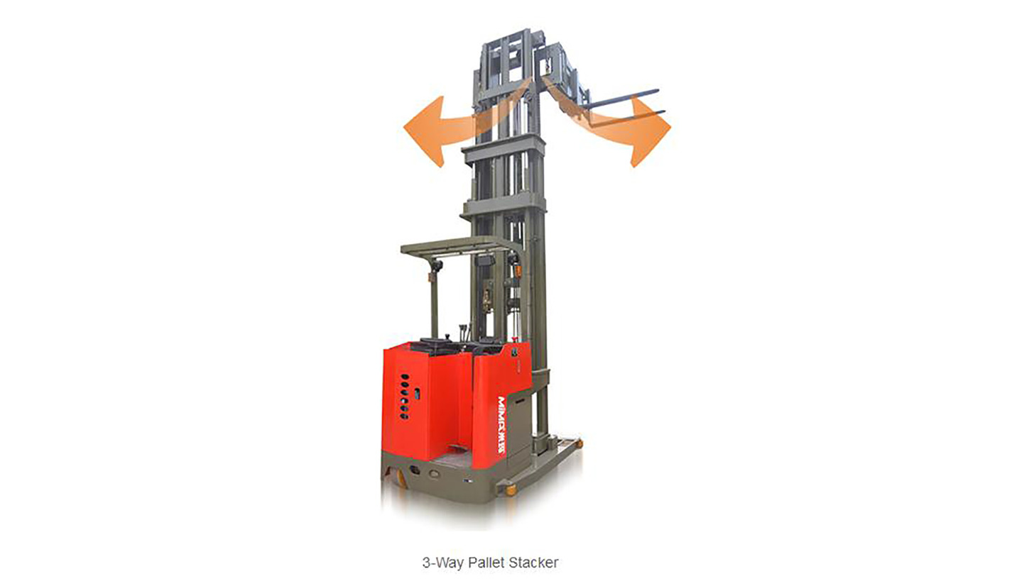 Logo narrow aisle  electric stacker forklift