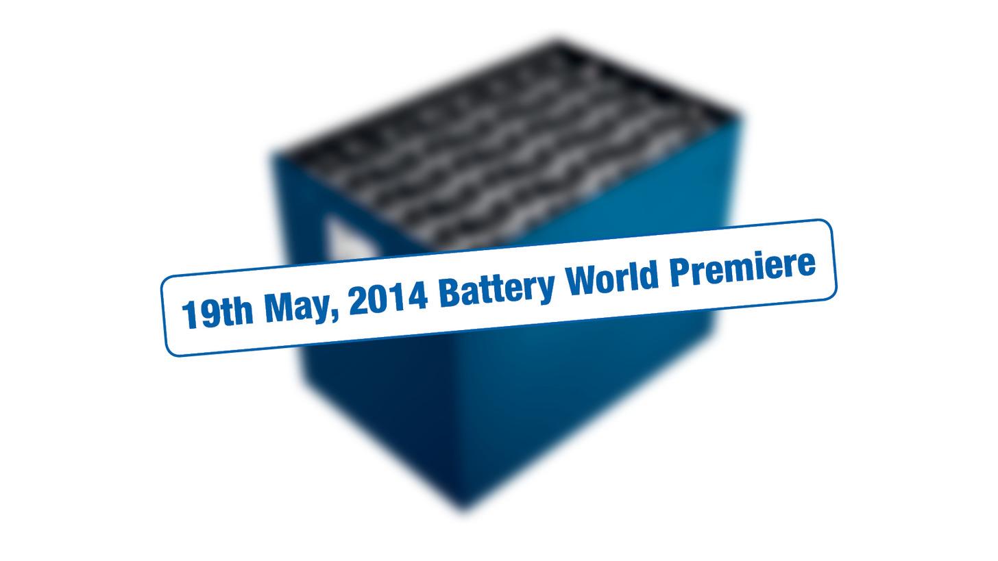 Logo Batterie Weltpremiere