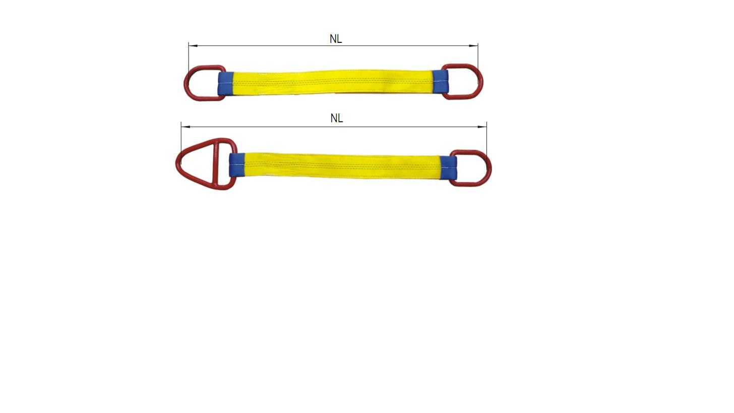 Logo Flat Webbing Slings With Metal Fittings