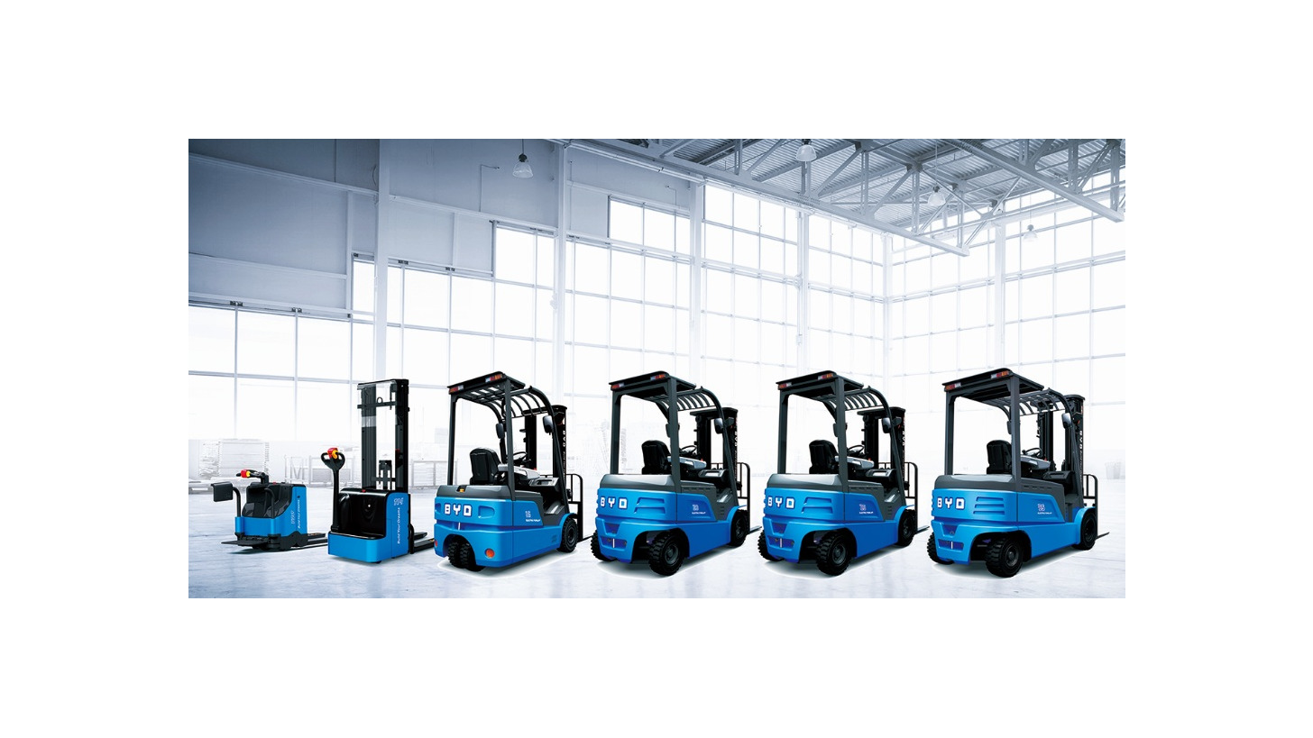 Logo BYD Forklift - powered by Iron Phosphate