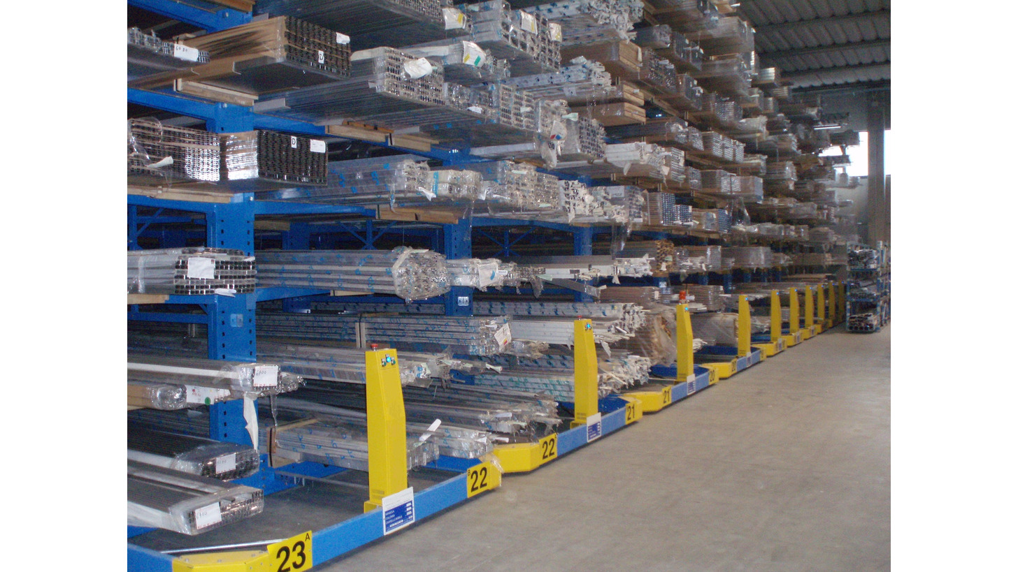 Logo mobile systems for cantilever racking