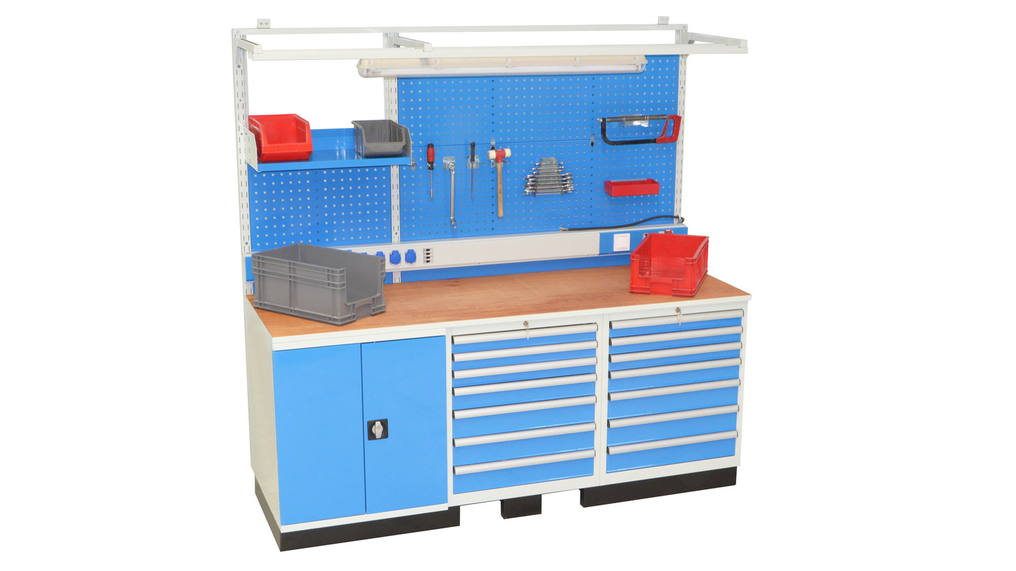 Logo WORKSTATIONS and HARDWARE STORAGE