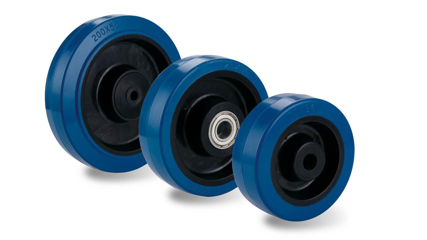 Logo Blue elastic rubber blacknylon rim wheel
