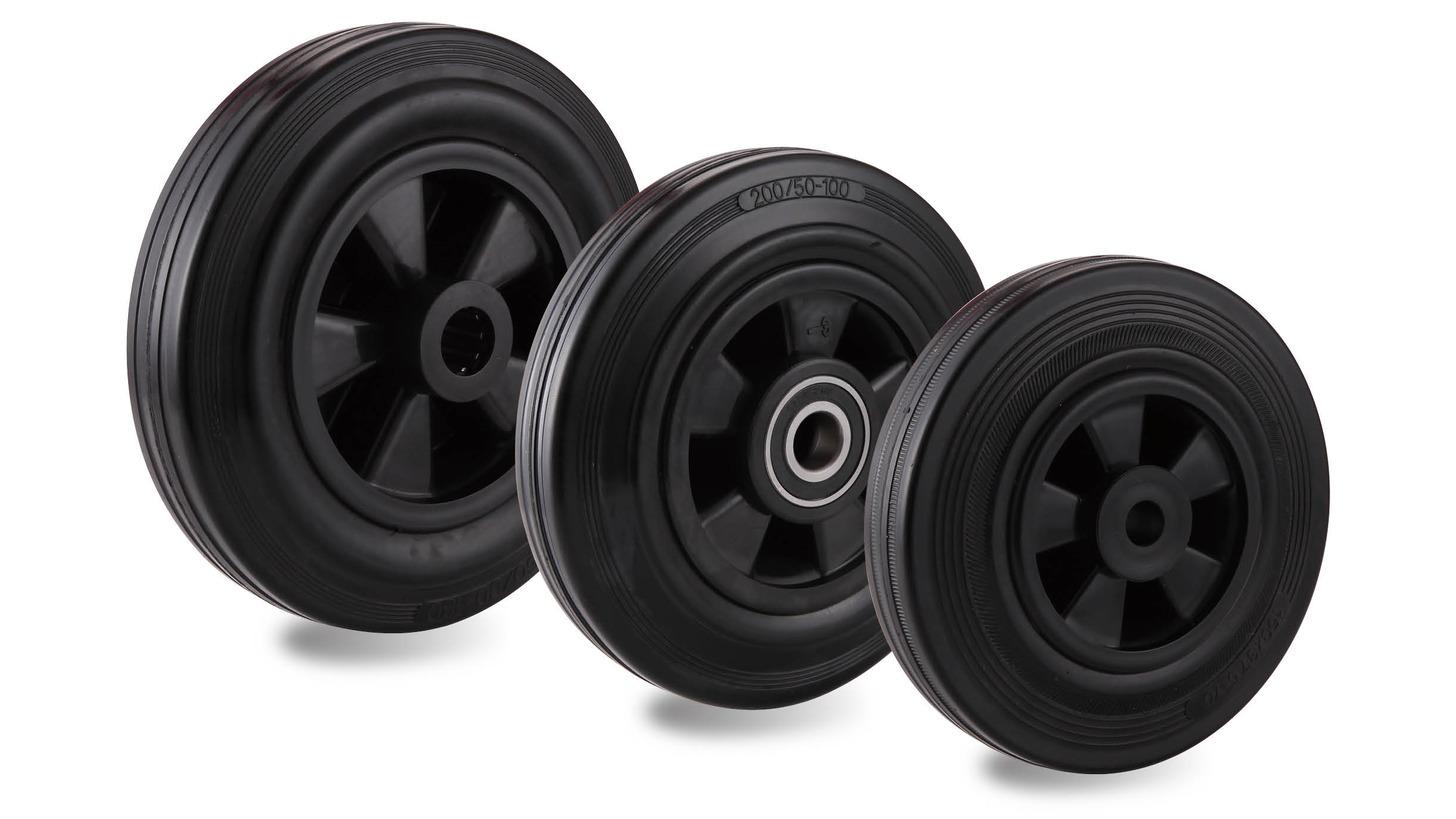 Logo Black rubber black pp rim wheel