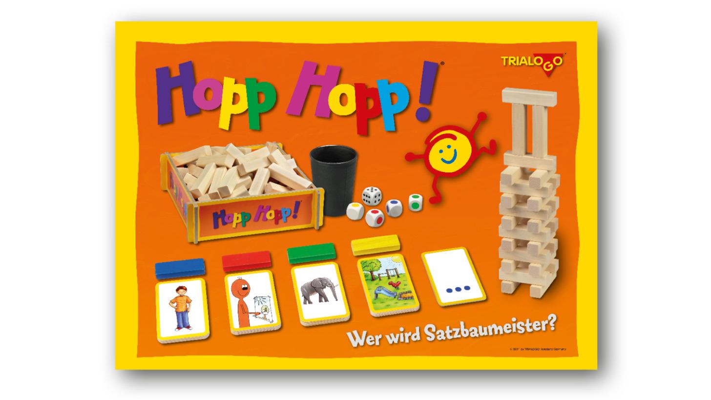 Logo HoppHopp! Satzbauspiel