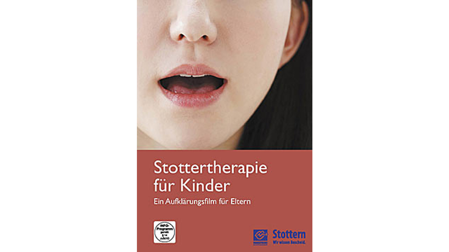 Logo Stottertherapie für Kinder. DVD.