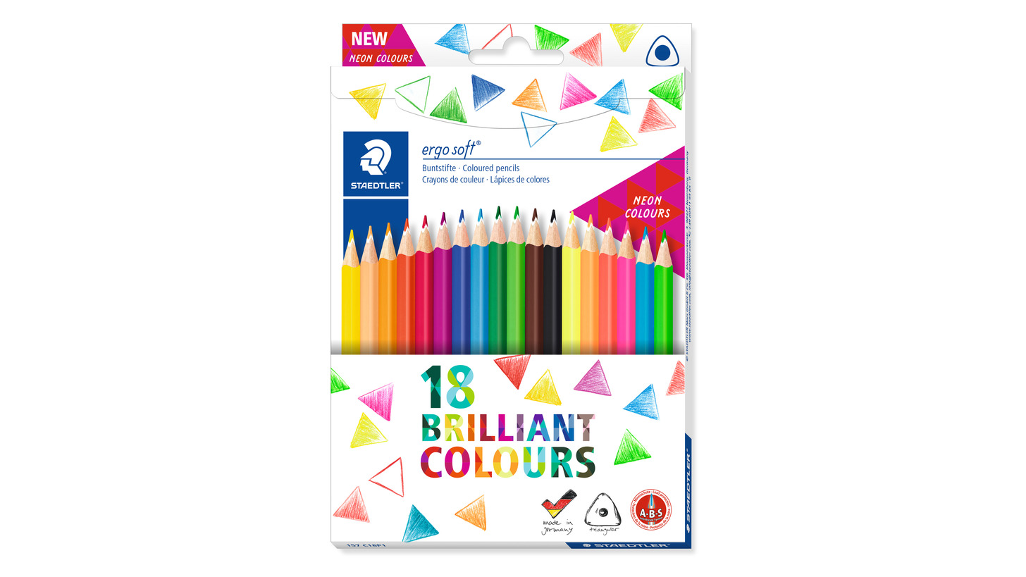 Logo ergo soft® 157Triangular coloured pencil