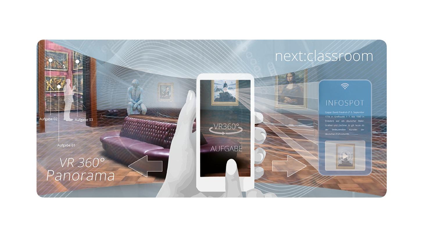 Logo next:classroom VR 360° eLearning