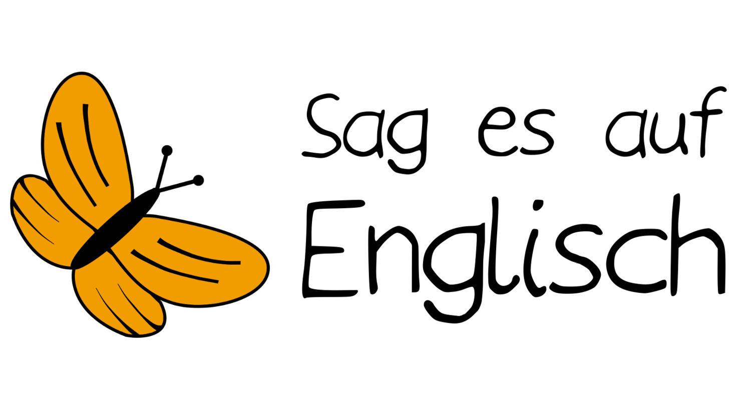 Logo Sag es auf Englisch