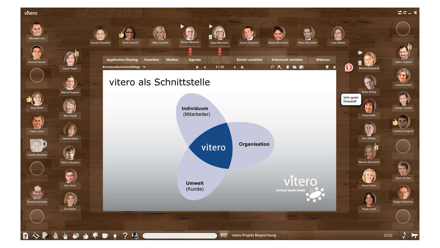 Logo vitero - virtual team room
