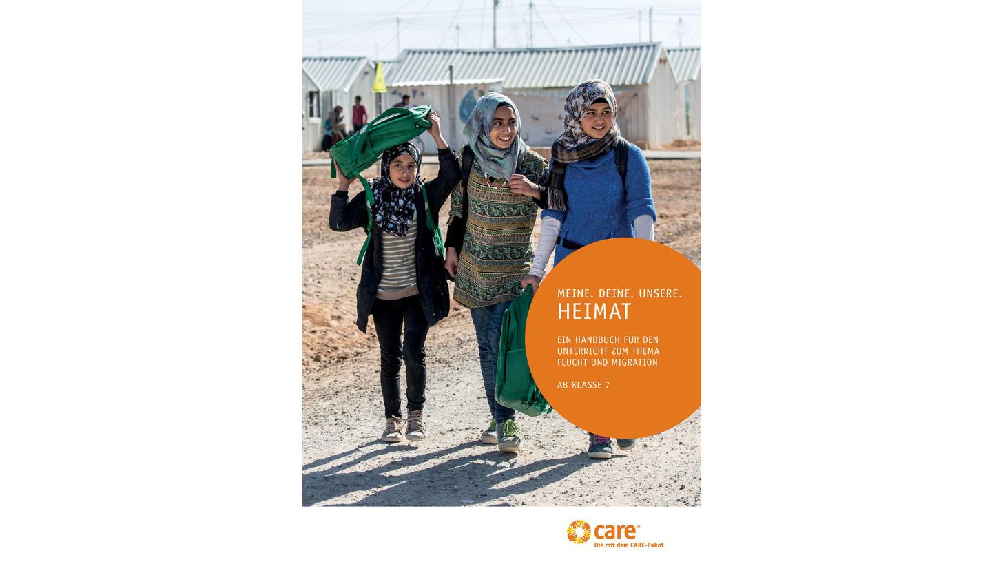 Logo Schulhandbuch Thema Flucht und Migration