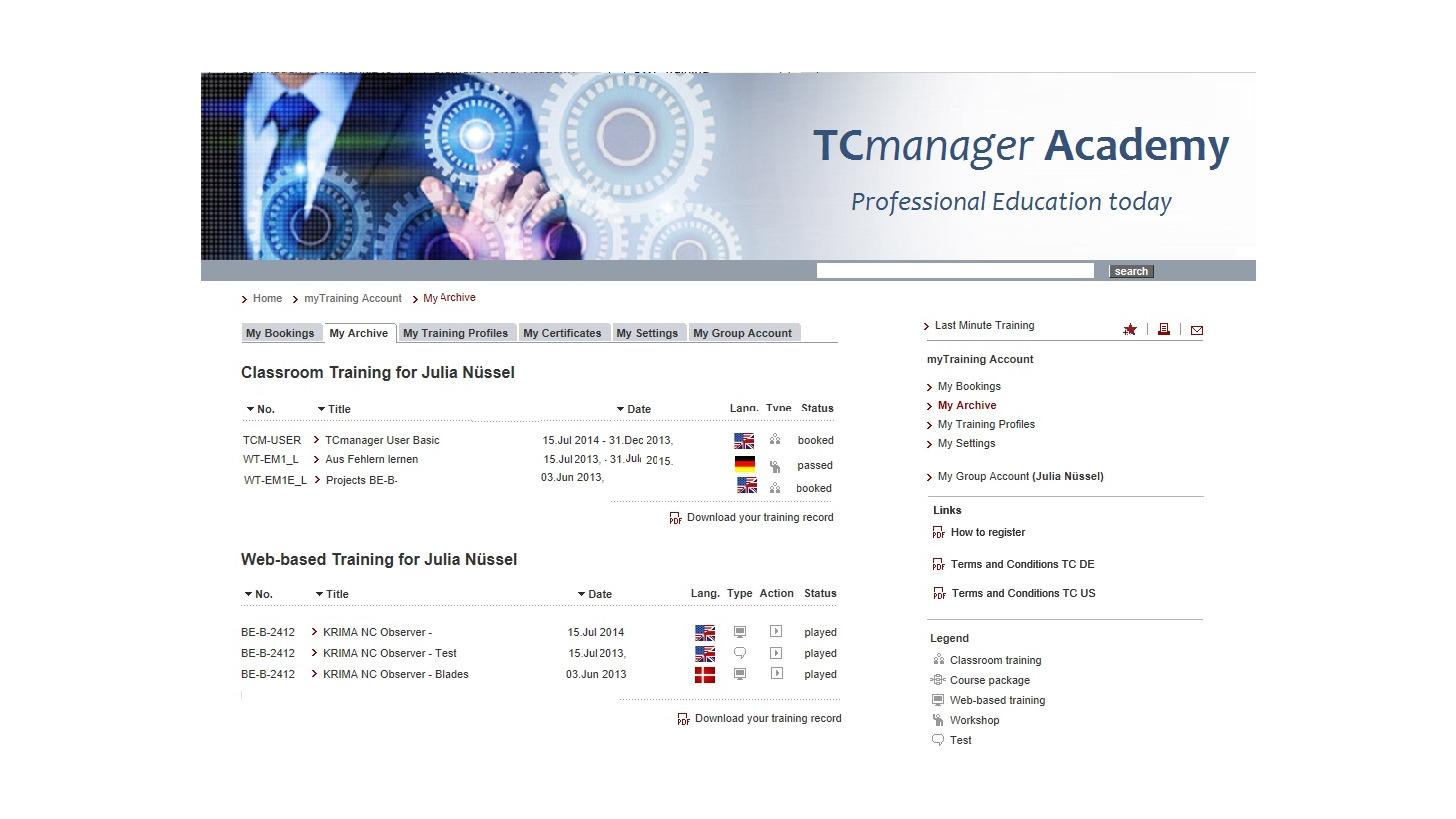 Logo TCmanager® LMS