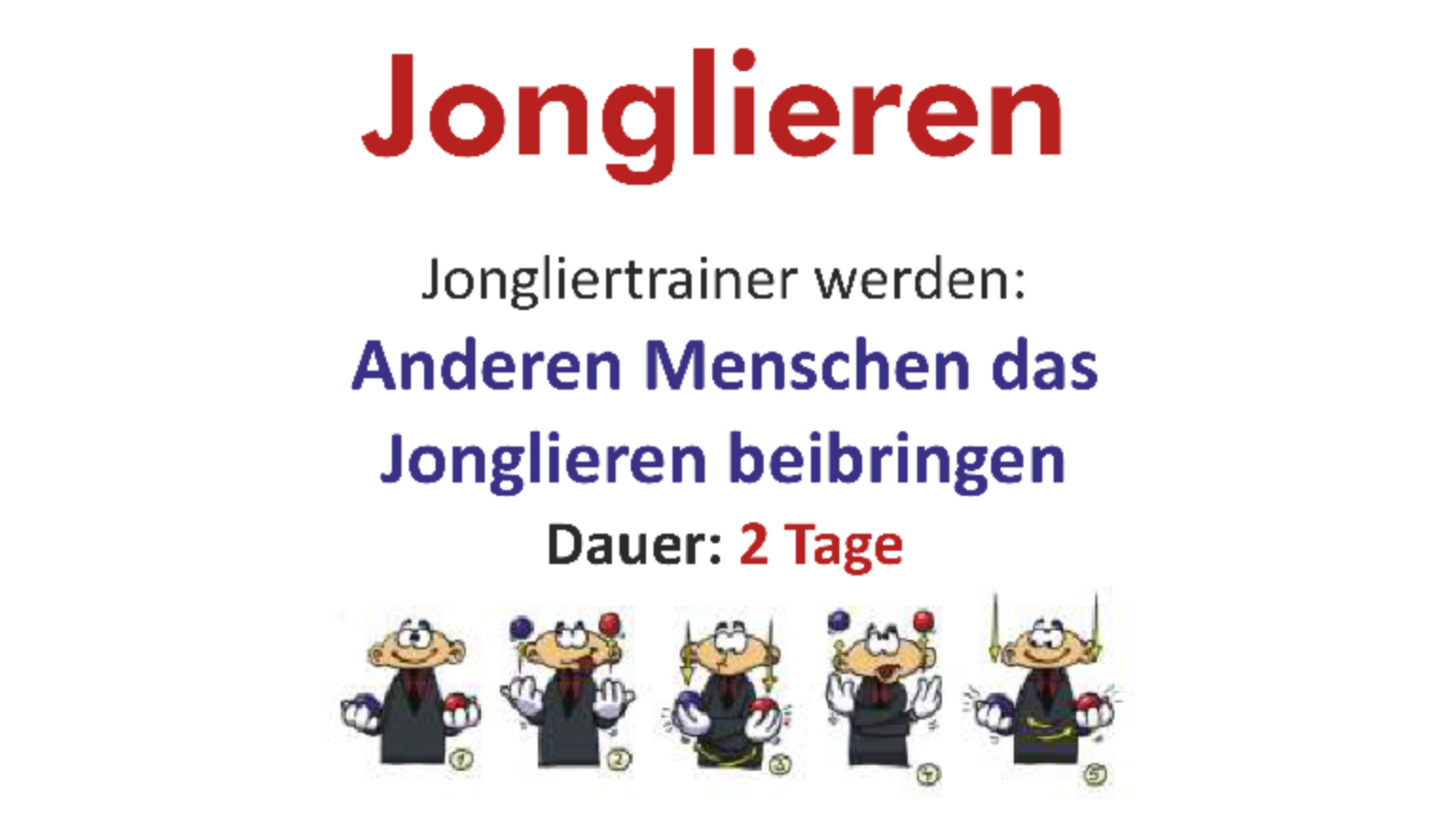 Logo Jongliertrainer-Ausbildung (nur 2 Tage)