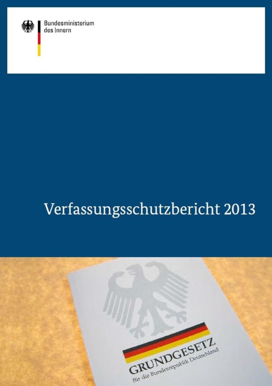 Logo Verfassungsschutzbericht  2013