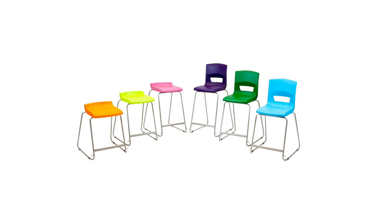 Logo Postura+ stools & high chairs