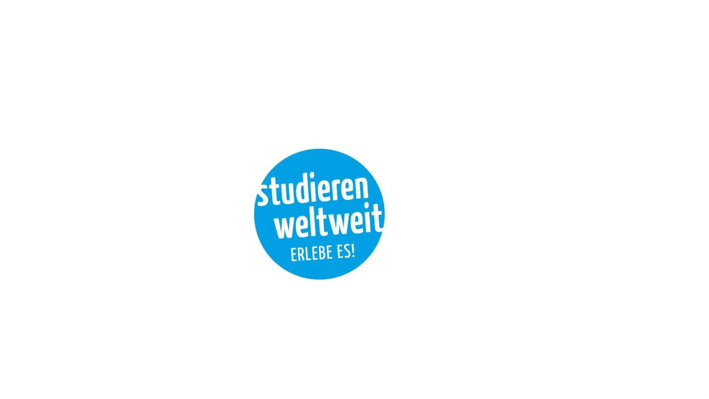 """Logo """"studieren weltweit - ERLEBE ES!"""""""