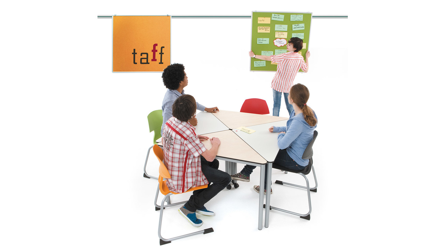 Logo Taff Wandschienentafelsystem