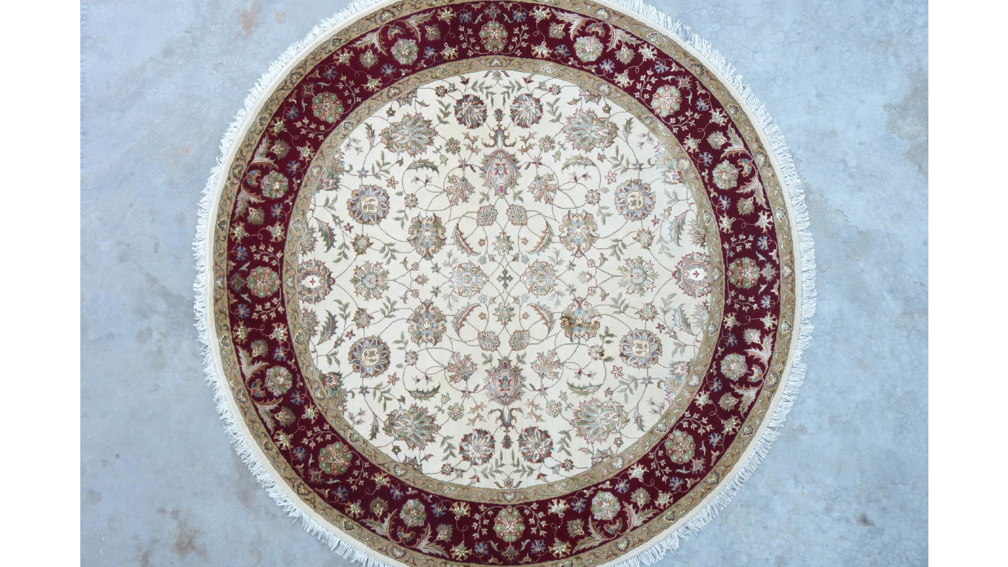 Logo Hand Knotted wool-silk carpets