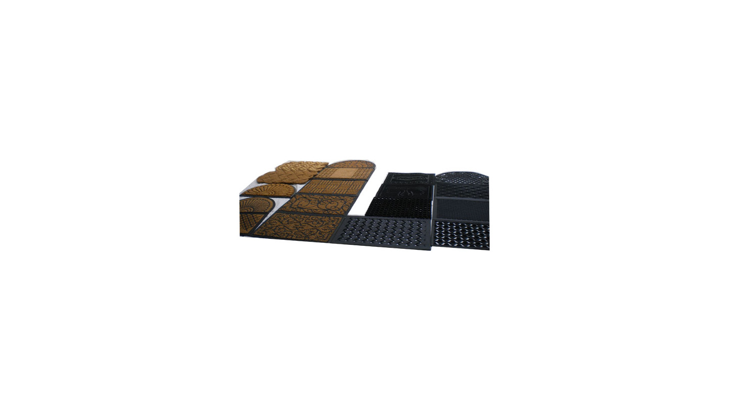 Logo PVC backed door mats and rolls