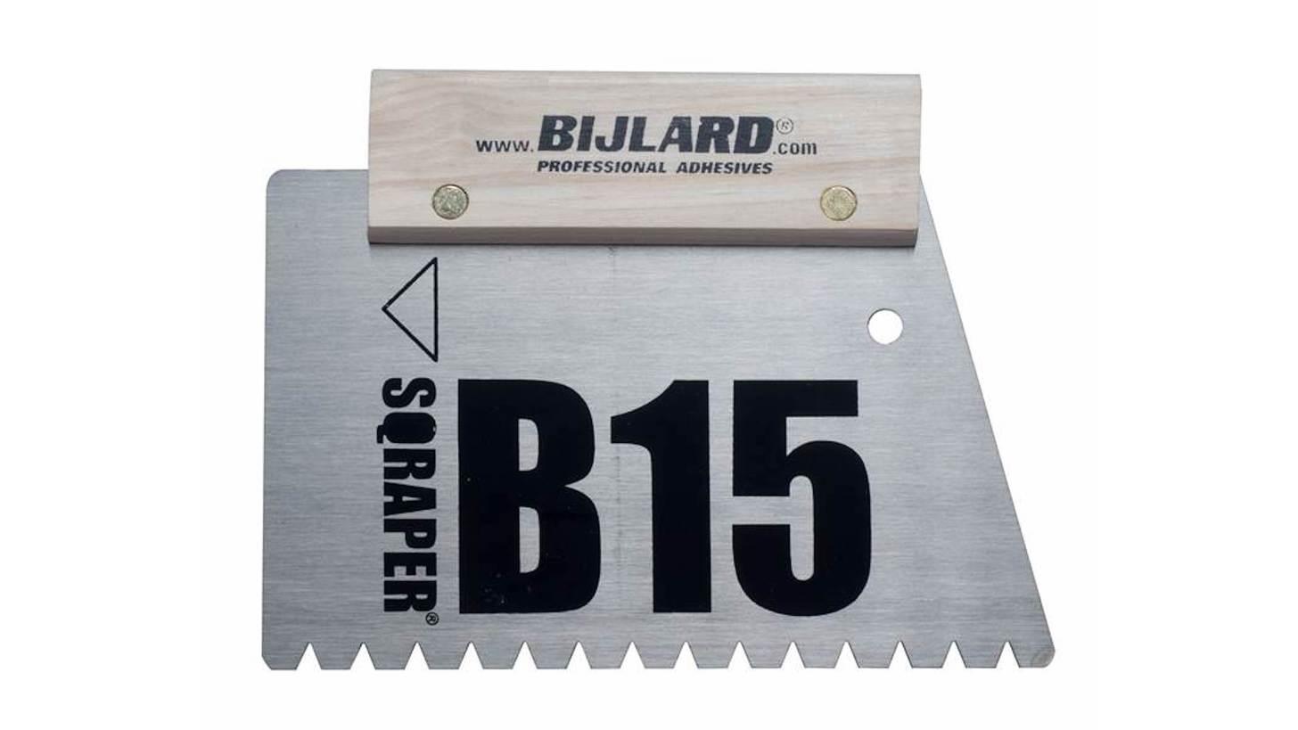 Logo Bijlard Sqraper® Glue comb B15