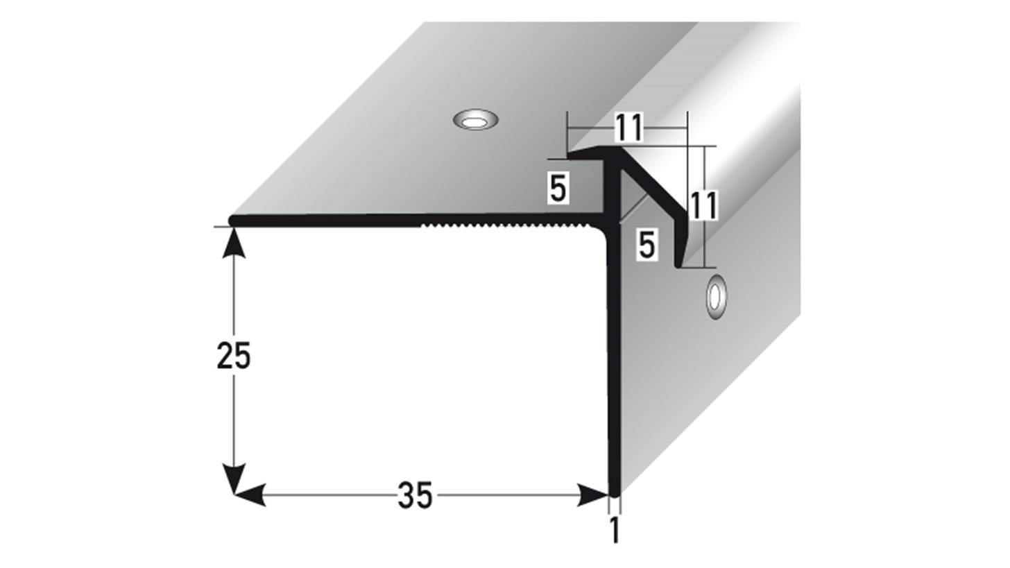 Logo Treppenkante Doppeleinschub 3 & 5 mm