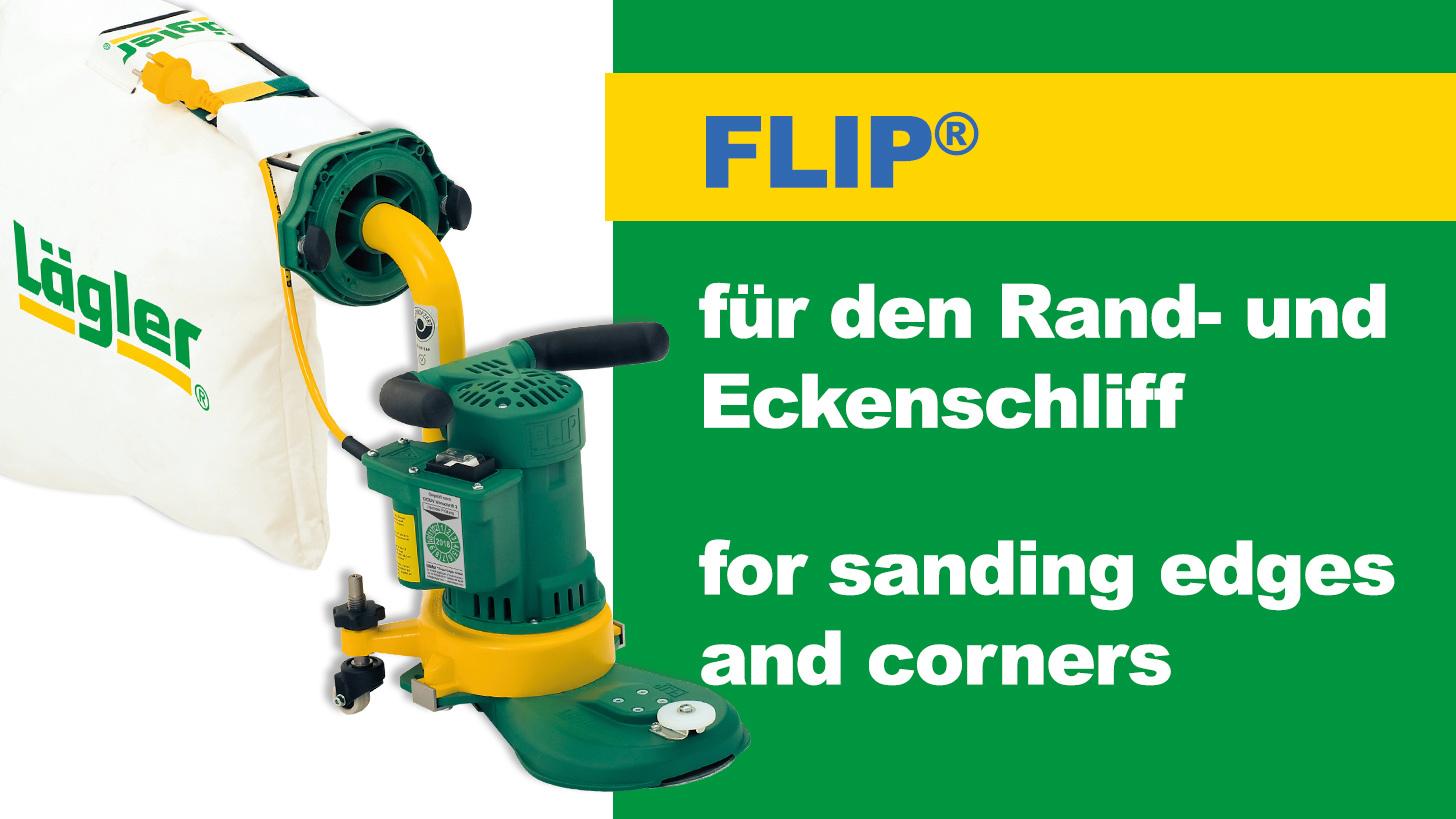 Logo FLIP® Rand- und Eckenschleifmaschine