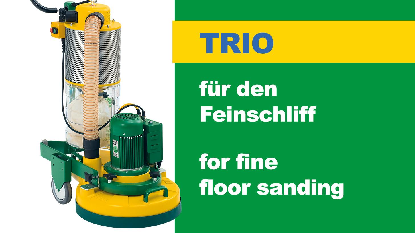 Logo TRIO - Three disc sanding machine