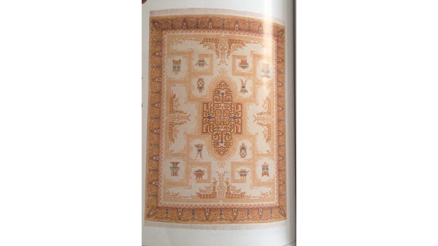 Logo Woolen Silk Carpets 9`x12` 8`x10`