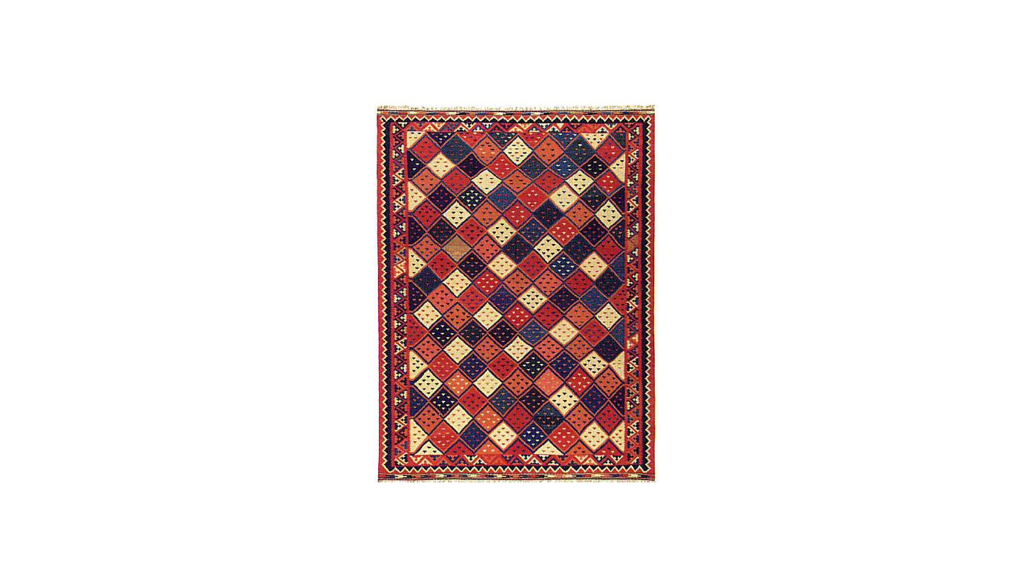 Logo Ghashghai kelims round off the selection of nomad rugs