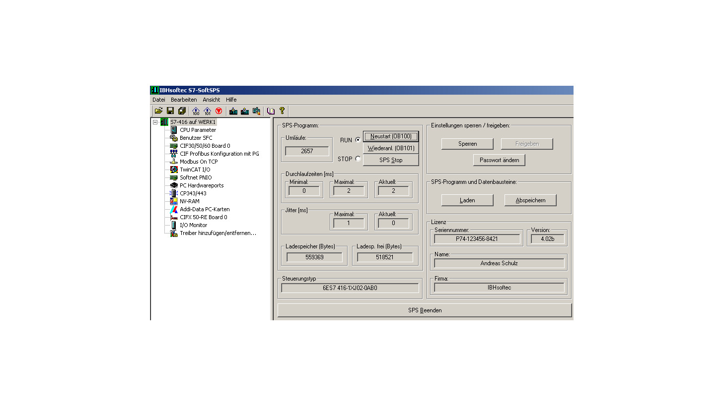 Logo SoftPLC PLC S7-315® / PLC S7-416®