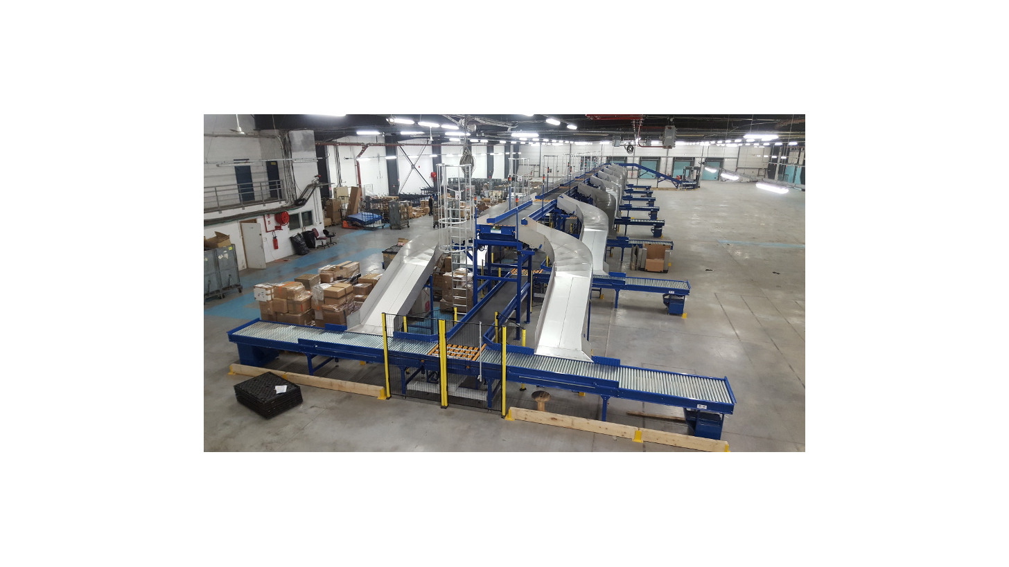 Logo Multi way-out sorting installation