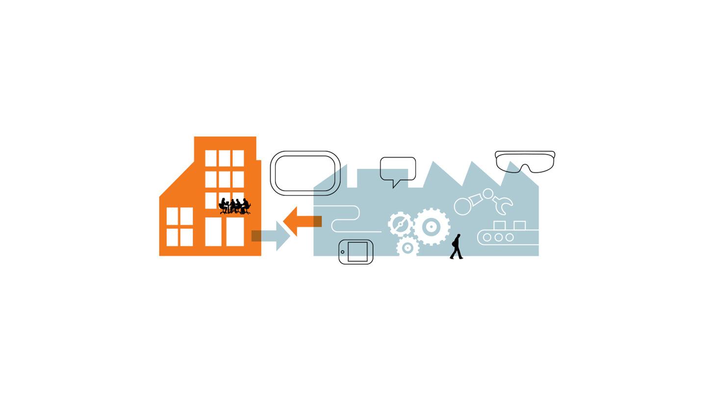 Logo UX & HMI Design für die digitale Fabrik