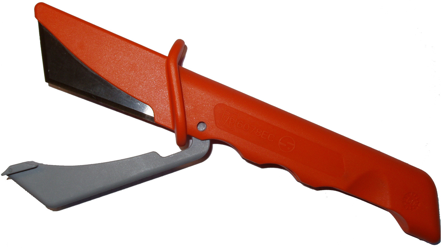 Logo Insulating knife, integrated ceramic blades