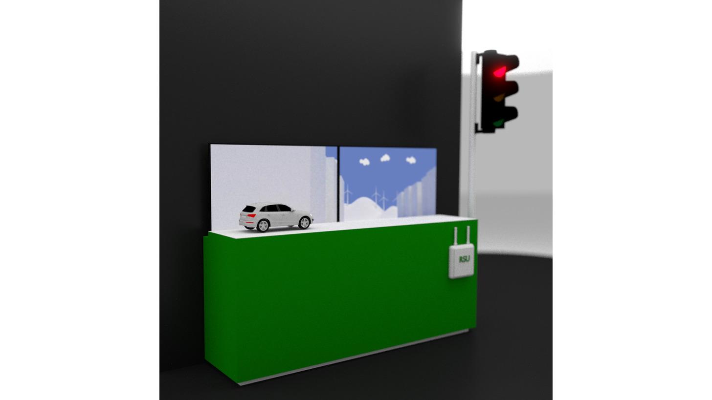 Logo Test Area Autonomous Driving BW