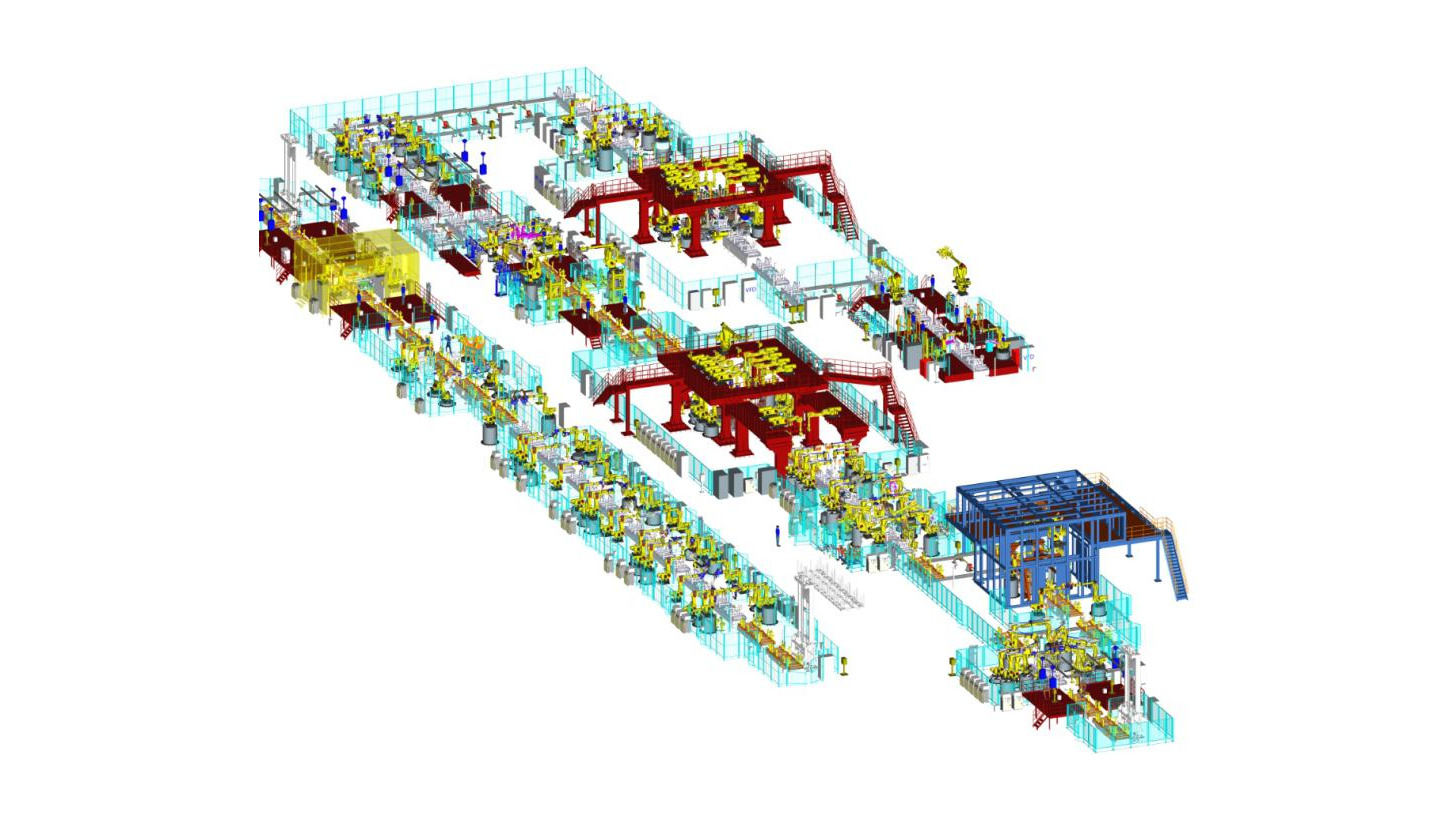 Logo Main Assembly Production Line of CarBody