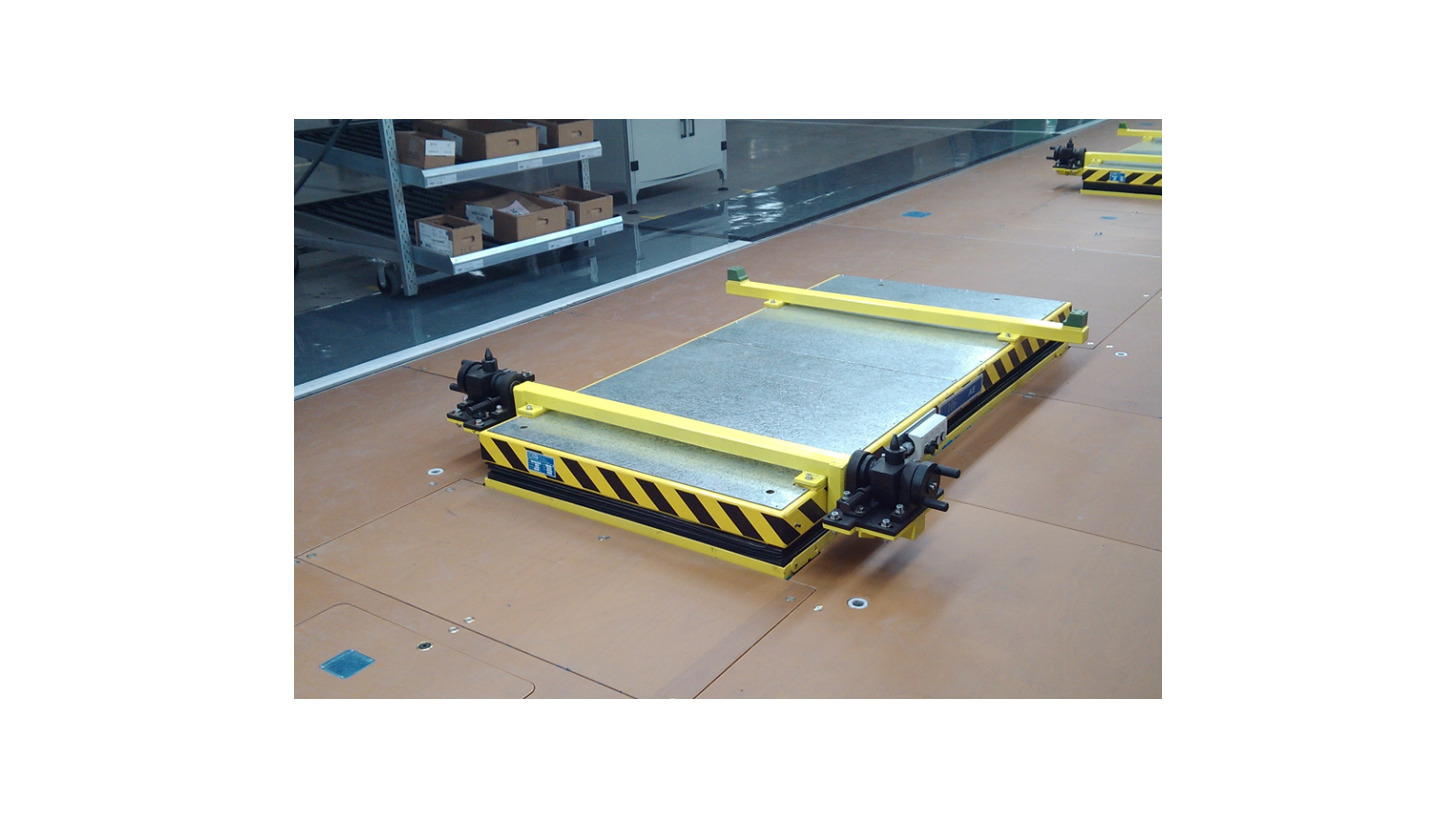 Logo Push-Skid Convey System in Assembly